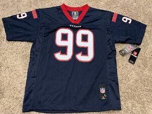 Houston Texans J.J. Watt #99 Navy NFL ApparellJersey Youth Sz L (14-16) NWT A3