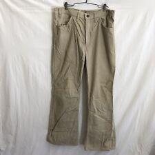 Levi's 646 USA Mens 35x30 Vintage 70s Tan Corduroy Bell Bottom Boot Cut Pants