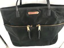 Michael Kors Kempton Black Nylon Tote Purse Shoulder Bag + Matching Wallet