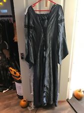Ex hire costumes - Halloween Witches Silver & Black Long Dress Size M/L