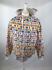 LRG MENS HOODED JACKET LARGE DIFFERENT COUNTRIES MULTI COLOURS