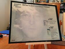 "Big 11X14 Framed John Lennon ""Imagine"" Lp Album Cd & Vhs Video Tape Promo Ad"