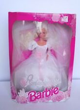 ROMANTIC BRIDE BARBIE DOLL IN WEDDING DRESS 1992 MATTEL BOXED FREE P&P
