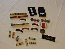 Vintage RARE ROTC Military pins badges stripes recruiting Cobra Honor roll drill
