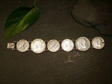 Silber Armband Tracht Antik Hindenburg 5 2 Reichsmark Münzen WW2 WK2 Adler HK