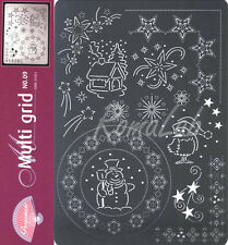 Multi grid Pergamano n 9 a tema natalizio BORDI SCRAPBOOKING per pizzi in carta