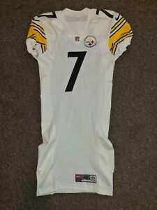 BEN ROETHLISBERGER #7 PITTSBURGH STEELERS WHITE AUTHENTIC FOOTBALL JERSEY sz 42