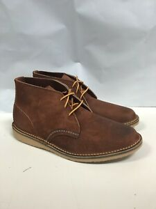 RED WING MENS WEEKENDER CHUKKA RED MAPLE MULESKINNER 03326 SIZE 8 FREE SHIPPING