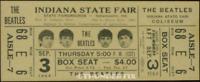 1  BEATLES VINTAGE UNUSED FULL CONCERT TICKET 1964  Indiana st. fair   laminated