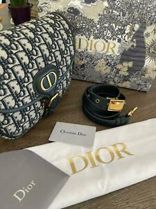 Authentic Christian Dior Bobby Oblique Jacquard Shoulder Bag 22/17/6