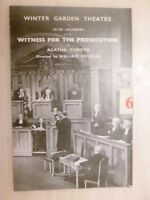 Winter Garden WITNESS FOR THE PROSECUTION-Patricia Jessel David Horne-A Christie
