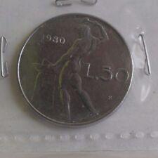 50 lire 1980 R : TTB : pièce de monnaie d'Italie / italy : E051