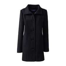Lands' End Black Stand Collar Coat Size UK 12 rrp £100 DH081 HH 04
