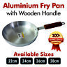 Heavy Gauge Metal Finish Frying Pan Aluminium with Wooden Handle