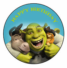 Shrek Edible Icing Image Birthday Cake Party Topper Decoration Personalised