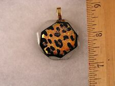 Leopard Spots Animal Print Glass Pendant GA15 Fred Flintstone Look! Awesome!