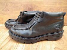 Timberland Uomini Ragazzi Nero pelle 2 Occhielli Lacci Basso Stivaletti UK6