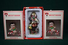 Betty Boop and Bimbo Christmas Ornament Lot (5 Total) - Resin and Glass