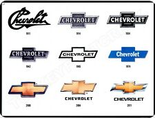 """CHEVROLET BOW TIES 9"""" x 12"""" Sign"""