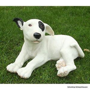 Gartenfigur Pitbull Hund 3691 liegend Bullterrier Garten Deko lebensecht Figur
