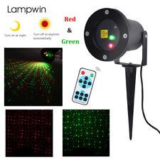Rouge & Vert Projecteur Laser Noël Extérieur Jardin Lumières Lampe de Décoration