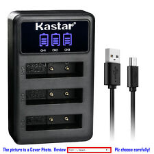Kastar Battery Triple Charger for Sony NP-BG1 NP-FG1 Sony Cyber-shot DSC-W120