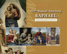 Grenada Art Stamps 2020 MNH Raphael Madonna & Child Renaissance Paintings 4v M/S