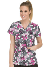 {MED} MC2 by Med Couture Women's Niki V-Neck Floral Print Scrub Top (8479MGMY)