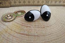 25 mm - Comic SICHERHEITSAUGEN  1 Paar nach EN 71-3 schwarz weiß AMIGURUMI Augen
