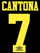 Manchester United Cantona Nameset Shirt Soccer Number Letter Heat Football Away