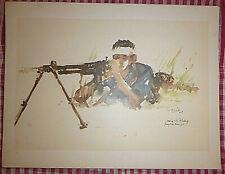 Vietnam Liberation Art - A Liberation Army Man - Viet Cong Machine Gunner - 16