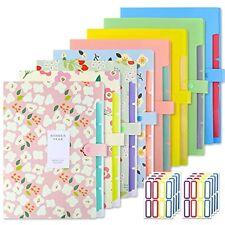 Expanding File Folders Plastic Accordion Document Pockets Organizer 8 Pcs Eoout