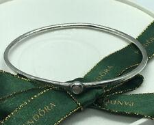 Pandora Single Moonstone Bangle Bracelet Ster 490101 Retired Ale 925 Rare