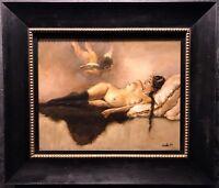 "PAMELA WILSON Original Oil on Masonite Painting ""The Rapture Of The Night"", COA"