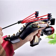 Hunting Fishing Reel Slingshot Kit Laser Sight Hunting Catapult with Fish Arrow