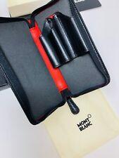 MONTBLANC *Boheme* 3er Schreibgeräte Etui Pen pouch Zipper L.Ed. NP:355€ -1685