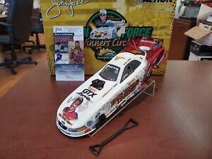 2005 John Force Bill Bader Dual Auto JSA Drag Legend 1:24 NHRA Funny Car MIB