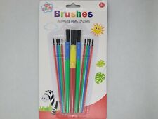 11 Assorted Paint Brushes Craft School College Office Artist Set DIY Decorating