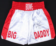 """CO RIDDICK /""""BIG DADDY/"""" BOWE SIGNED 16/""""x12/"""" BOXING PHOTOGRAPH v HOLYFIELD PROOF"""