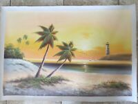 Original Oil Painting Palm Tree 24 x 36 Inches 1
