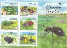 Alderney Beetles min sheet -2013-mnh