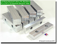 """(10 PACK) 8"""" x 2"""" x 1"""" Oversized (Extension) Aluminum Soft Jaws for 6"""" Vises USA"""