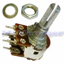 2K ohm Lin / Lineare Stereo / DUAL GANG MIXER / volume / tono Scanalato Potenziometro / Pot