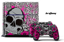 Designer Skin PS4 Playstation 4 Console + Controller Decals Girly Pink Brittany