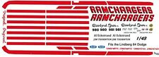 Ramchargers 1963-64 Dodge 330 1/43rd Scale Slot Car Waterslide Decals