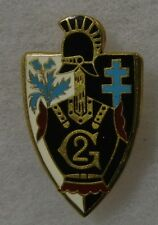2 REGIMENT DU GENIE - ORIGINAL Vintage FRENCH ARMY ENGINEER BADGE INSIGNIA