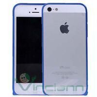 Custodia BUMPER metallo Blue per Apple iPhone 5s 5 alluminio Blu nuovo