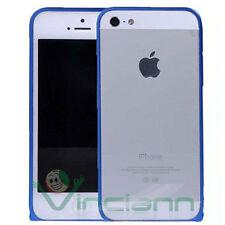 Custodia BUMPER metallo Blue per Apple iPhone 5s 5 alluminio Blu nuovo