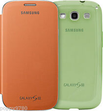 Samsung OEM Cover Bundle For Galaxy S3 SIII Phone Orange Flip + Green Protective