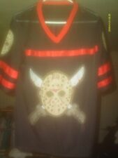 BLACK  & RED   FRIDAY THE 13TH VOORHEES #13  MESH JERSEY SIZE MED  (1)  SPINNER